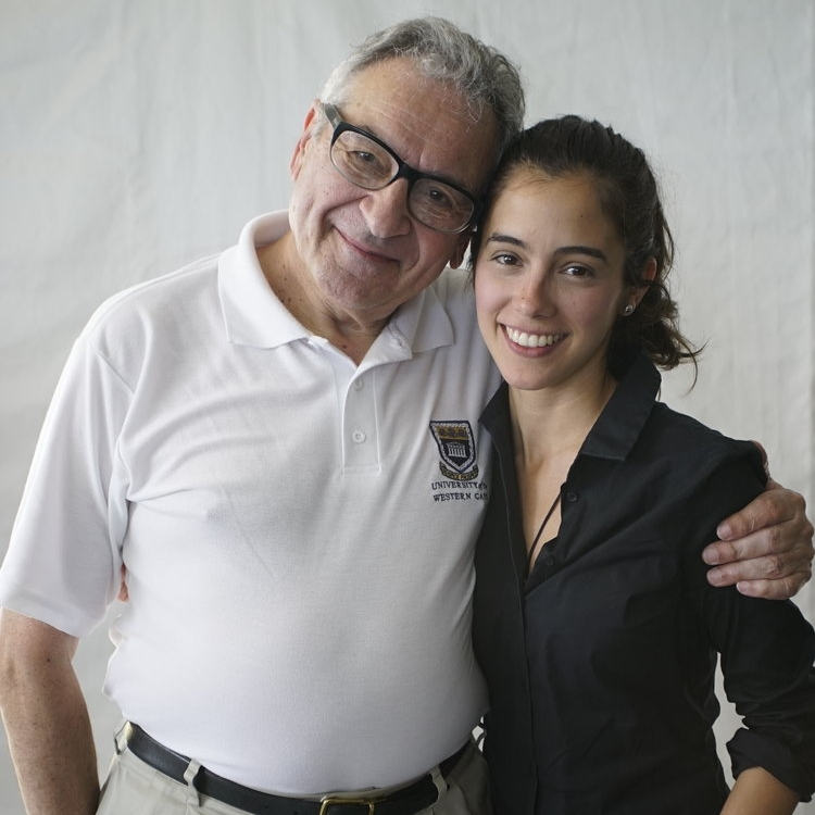 Gabriela Garza with Maestro Victor Yampolsky
