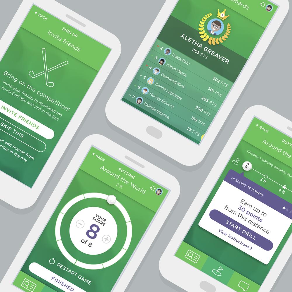 Junior.Golf - Mobile App, Tablet App, Web Portal