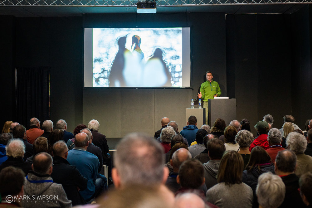 Chris Packham spoke to a packed Canon Live Stage about his 'Photographic Journey with the EOS 5DS R. (Sony A7R II, Carl Zeiss Planar T* 50mm f/1.4)