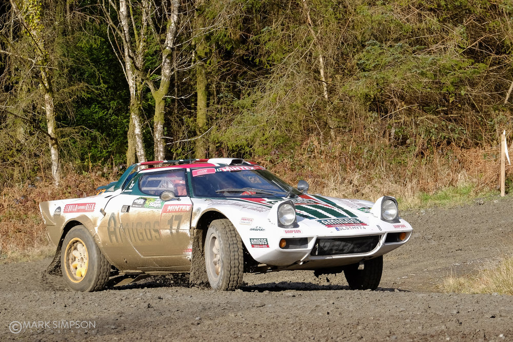 Steve Perez & Paul Spooner, Lancia Stratos HF, Red Kite Stages, Caeo, Wales (FujiFilm X-T1, Fujinon XF 55-200mm F3.5-4.8 R LM OIS at 85mm, 1/500 sec f8.0, ISO400)