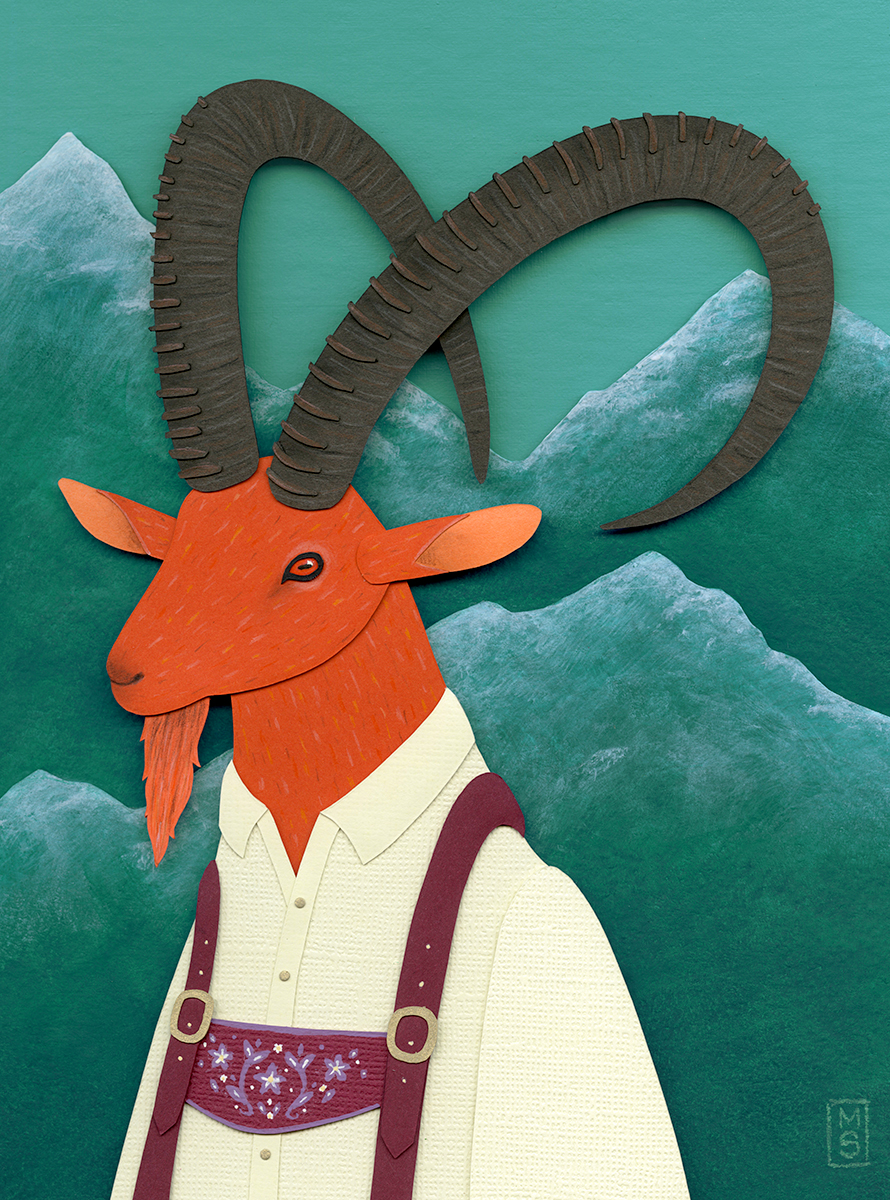 """Ibex in Lederhosen"""
