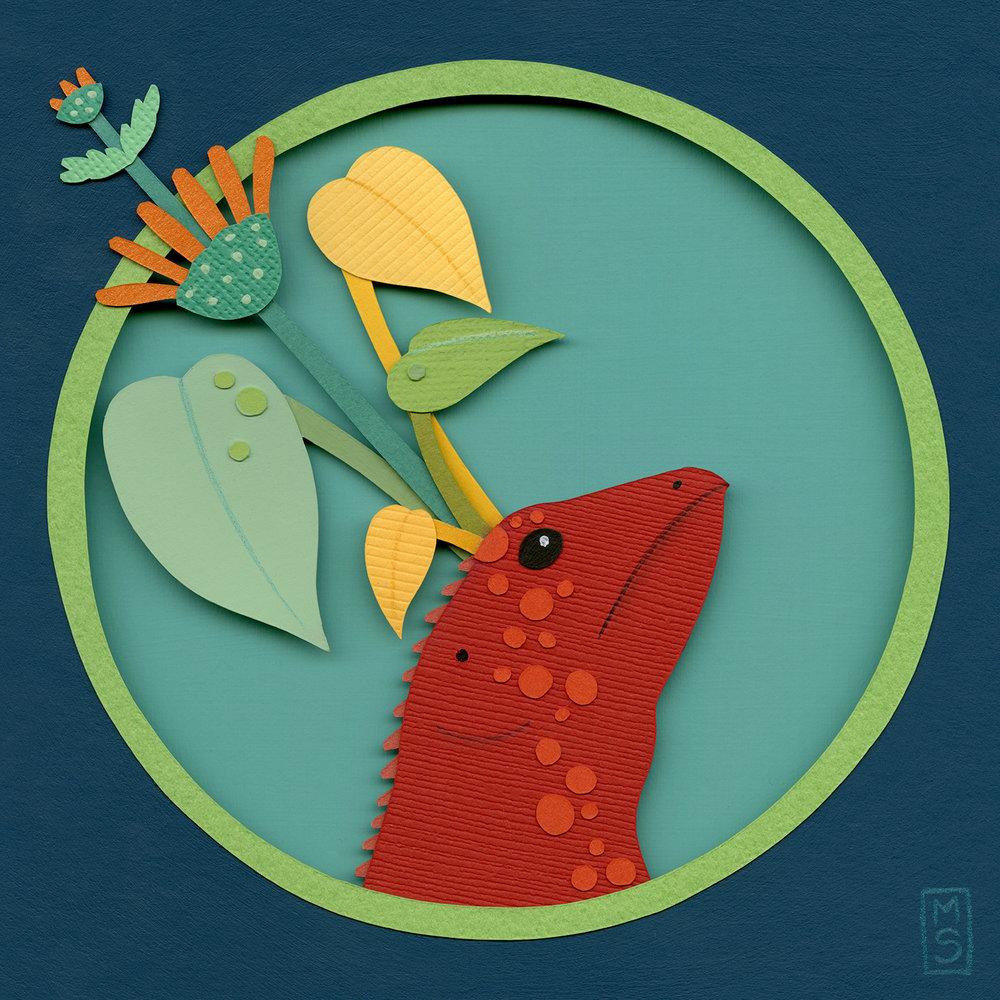 """Lacerta Fronde (Leafy Lizard)"""