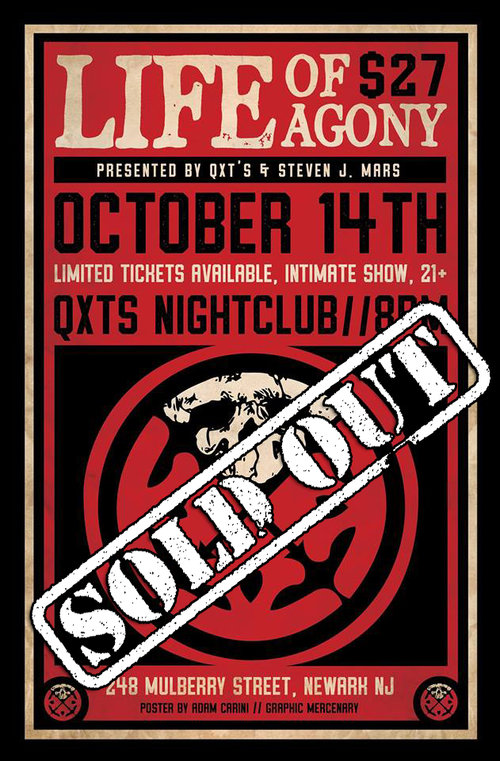 LIFE OF AGONY - SOLD OUT SHOW!