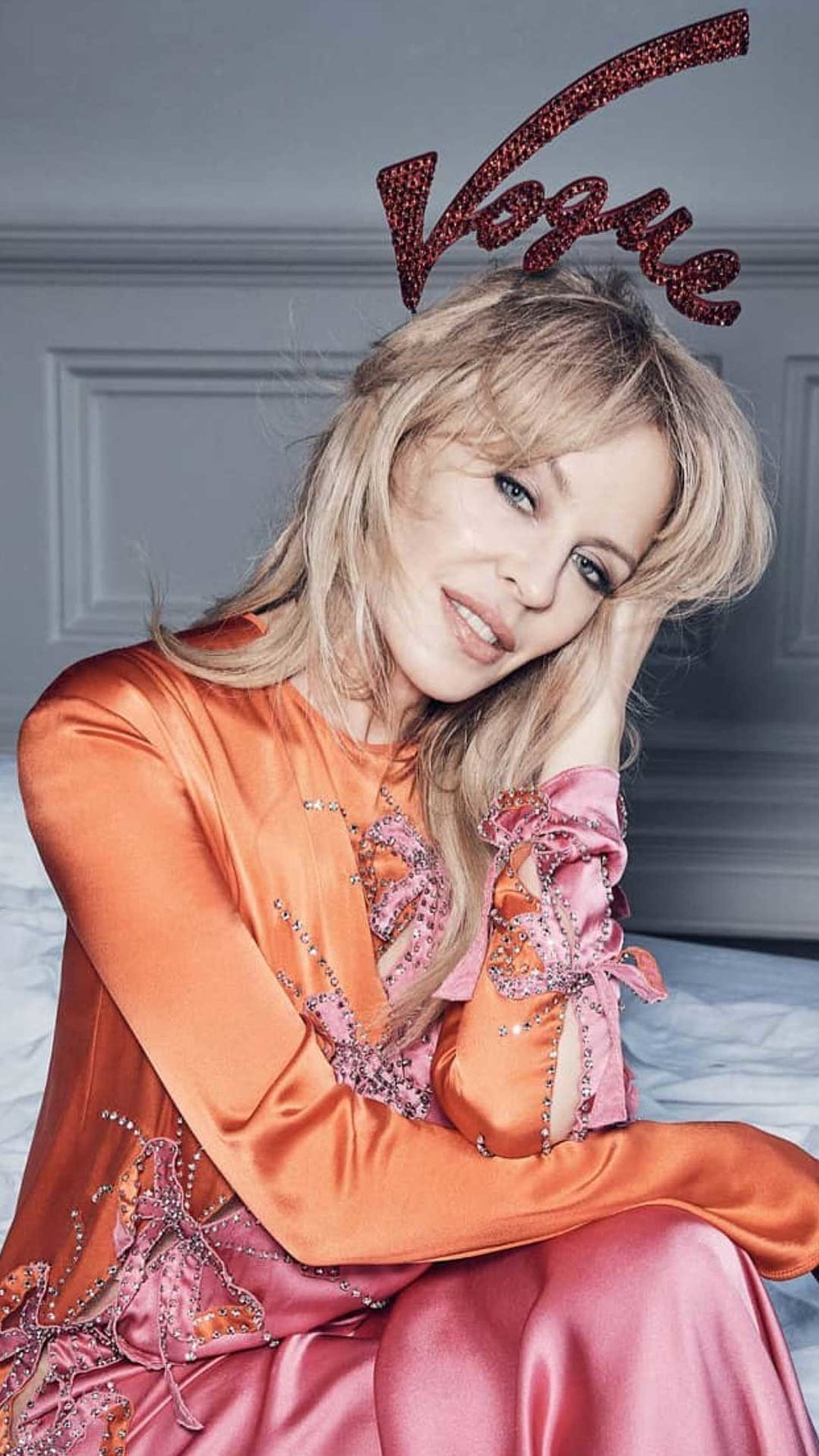 Kylie Minogue in Christie Millinery