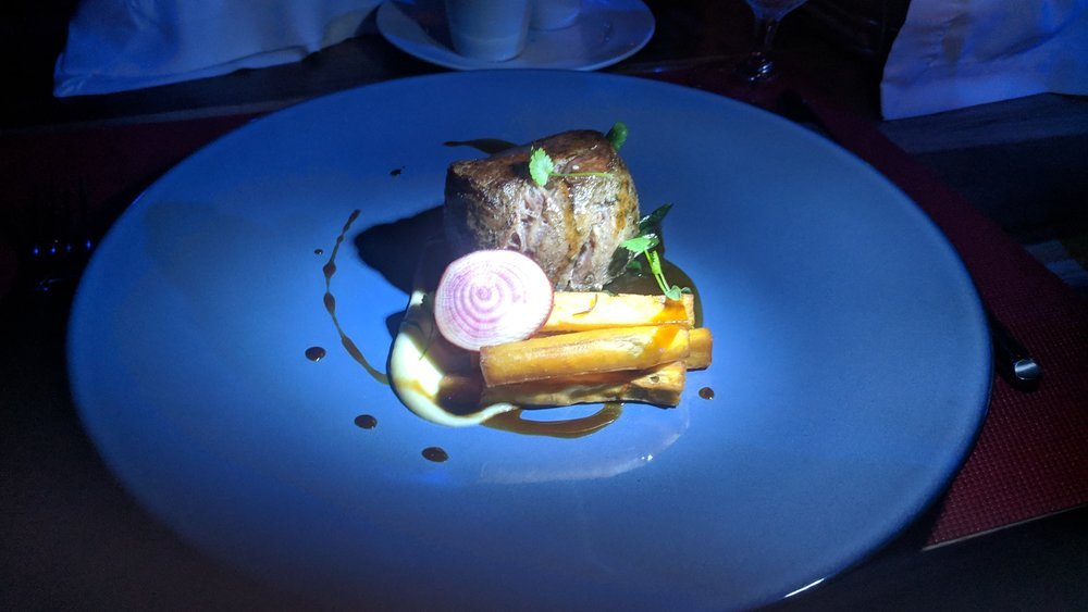Another steak, which was a more impressive plating, but not as good as the previous.