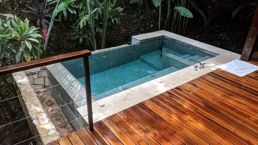 But the highlight of the room was definitely the private outdoor plunge pool on the balcony.