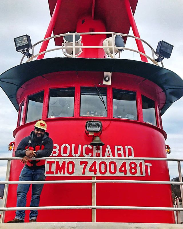 Meet Casper 😊 he completed our Tugboat Program in 2015 and has been working as an able seaman at Bouchard Transportation Co. ever since. With the help of Virginia's House of Hope he's now on his way to earning his QMED engineers certification, which will bring him closer to his goal of becoming chief engineer!  #dreams #nonprofit #educate #helpotherssucceed #tugboat #qmed #charity #makeadifference