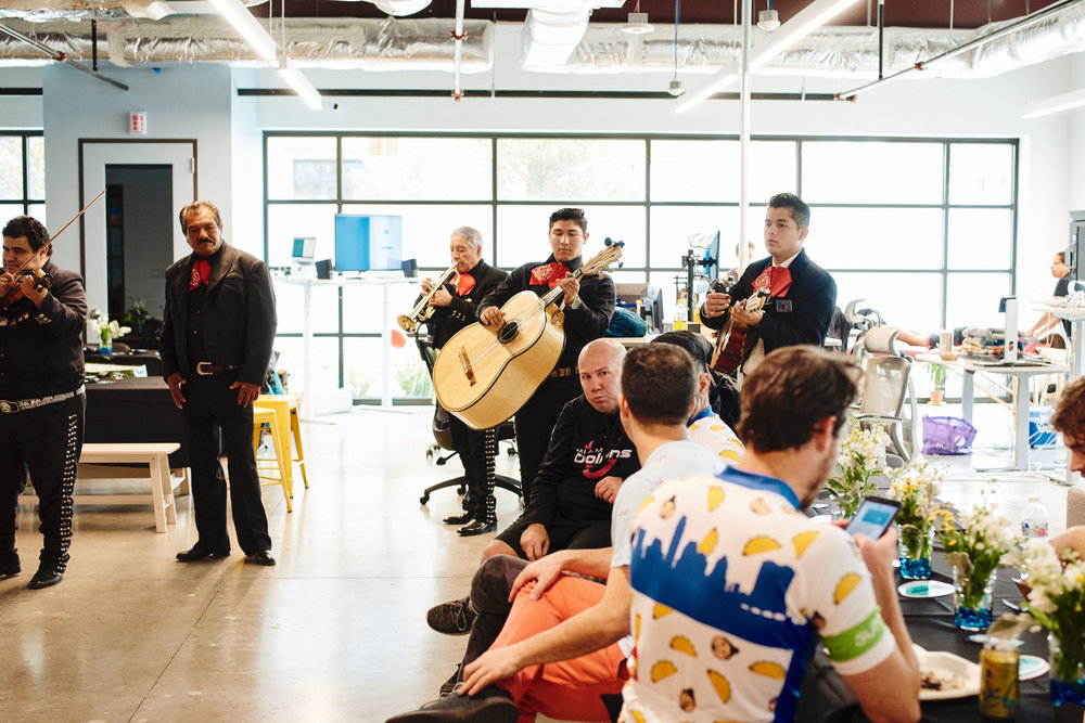 The after party in 2018 included mariachis, catered lunch, margaritas and massages for all participants. Join us for the 2019 ride!
