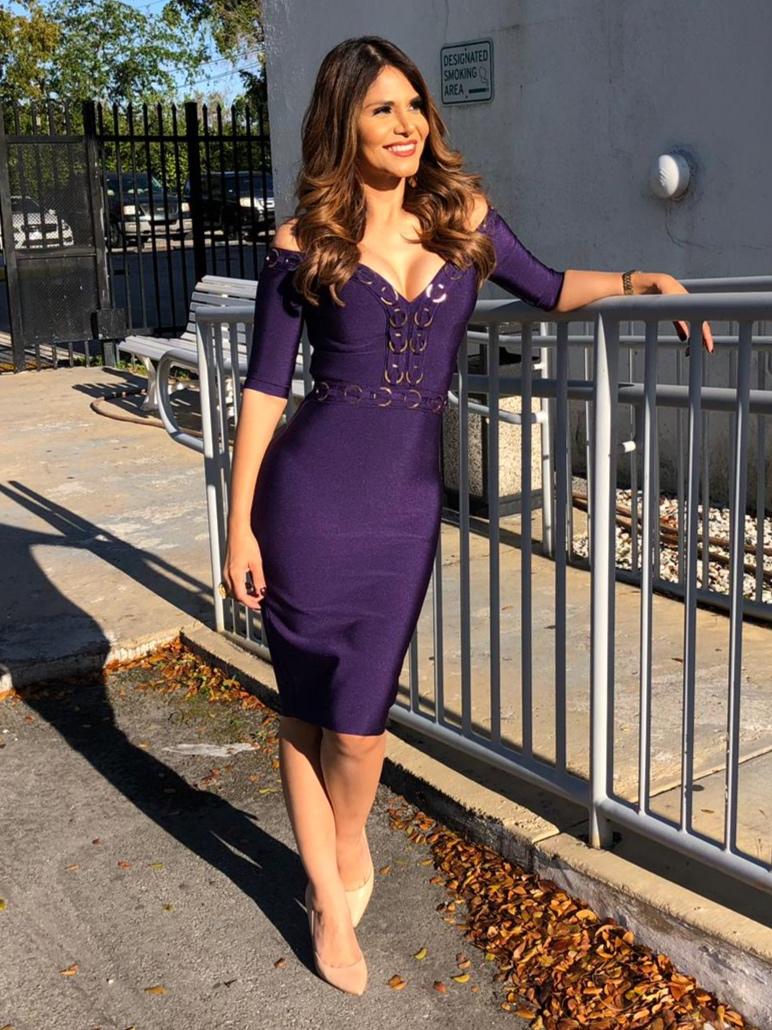 @nataliacruznews wearing Valiant Paris