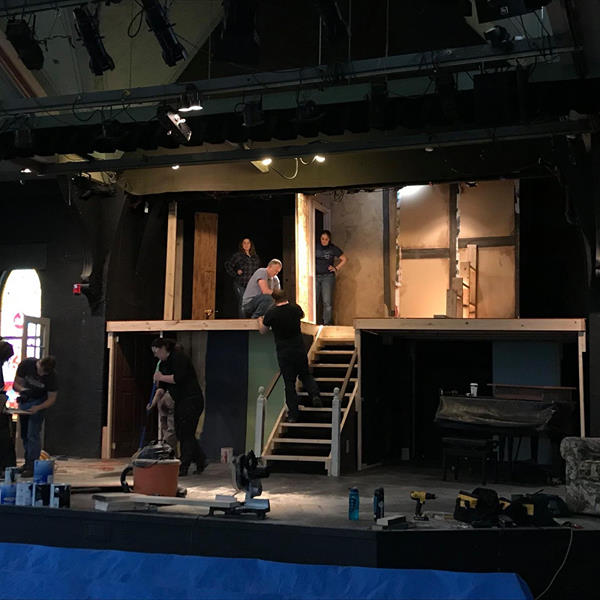 Set build for  August: Osage County  Spring 2018