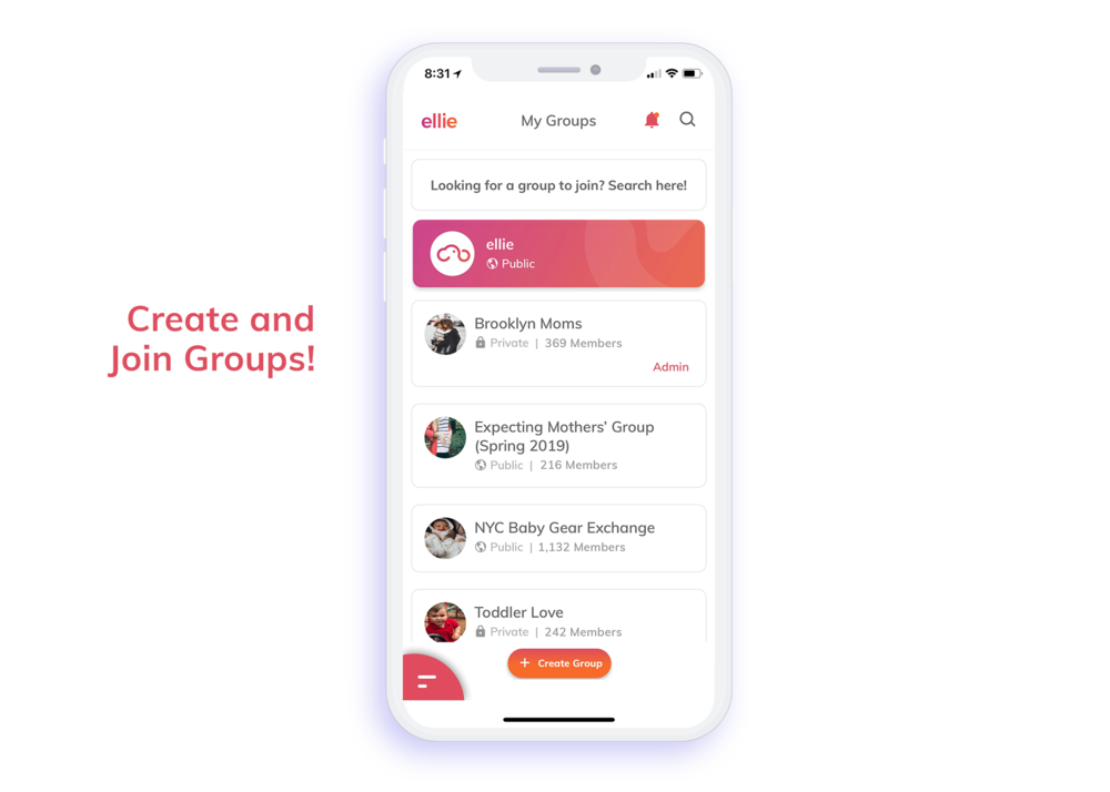 Create and Join Groups