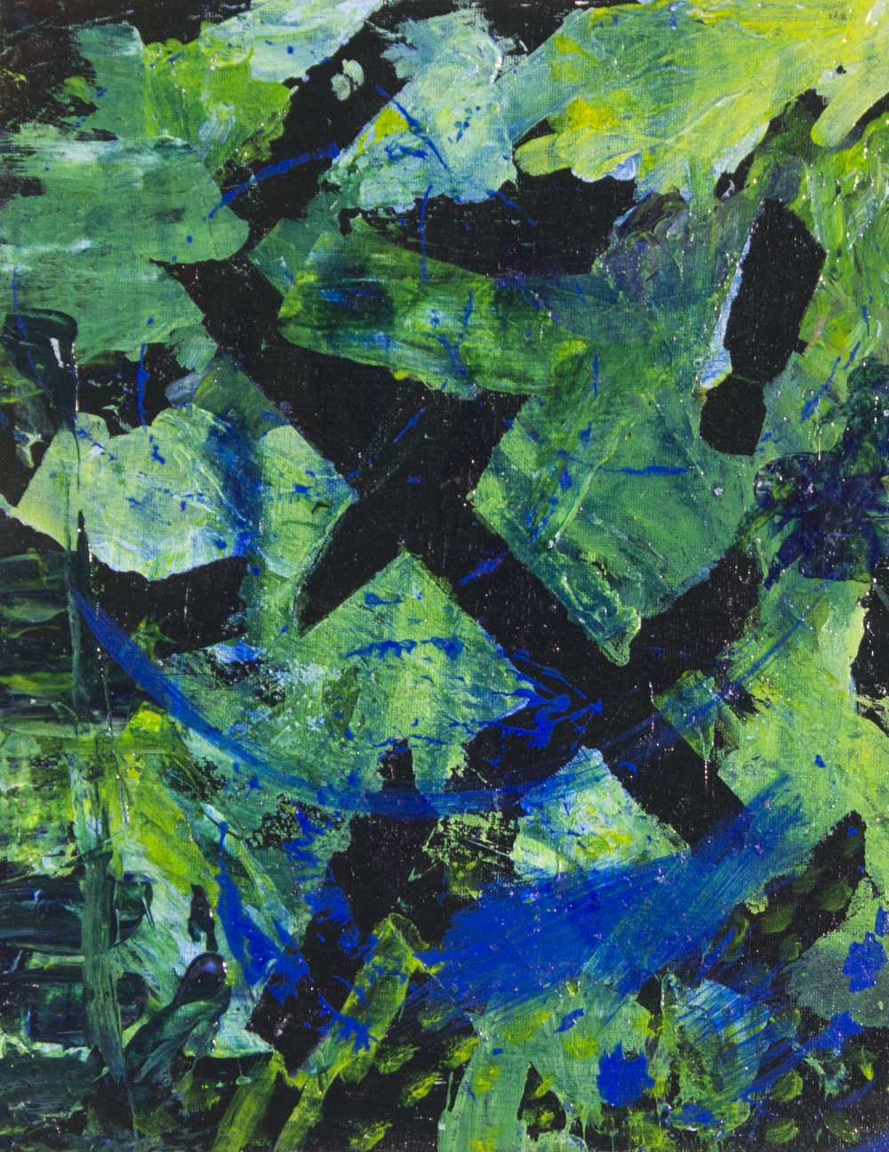 "I Feel Happy . 2018. Acrylic on canvas. 11"" x 14""."