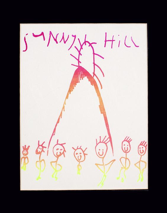 """Sunny Hill . Silkscreen print on paper. 11"""" x 14"""" matted."""