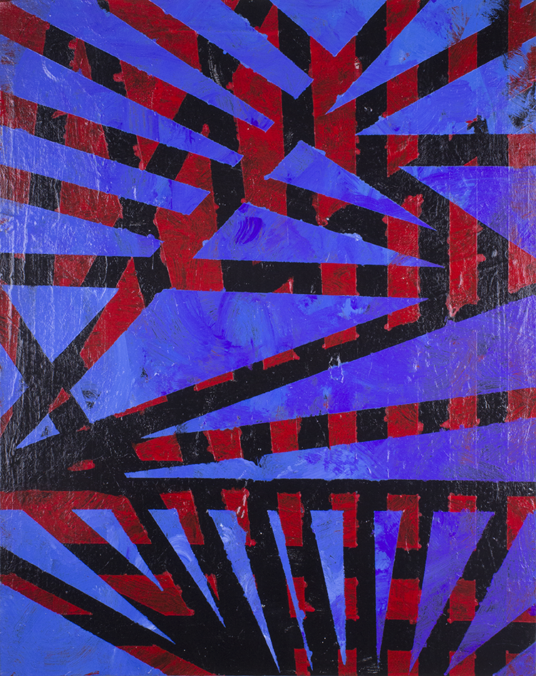 "Untitled . Acrylic on canvas panel. 16"" x 20""."