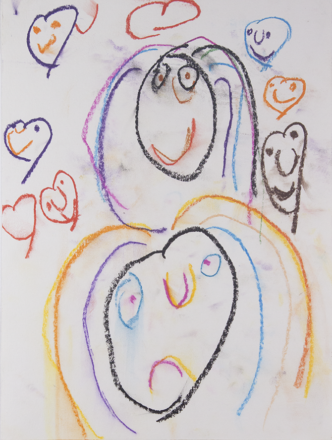 "Emotional   Cindy . Chalk pastel on bristol. 11"" x 14""."