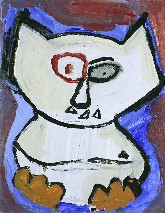 """Ghost   Monster . Acrylic on canvas panel. 11"""" x 14""""."""