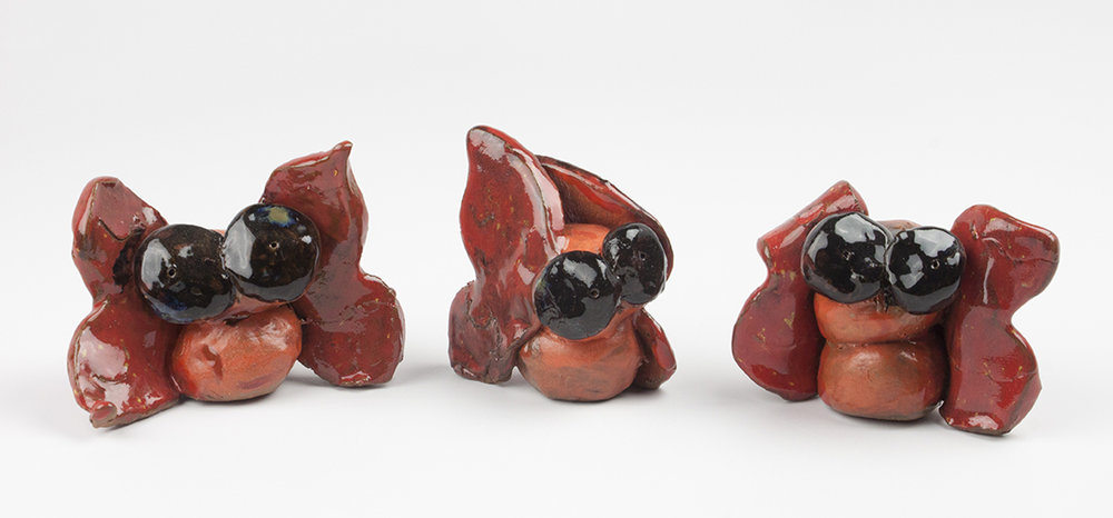 Butterfly   Gang . Earthenware with commercial glazes