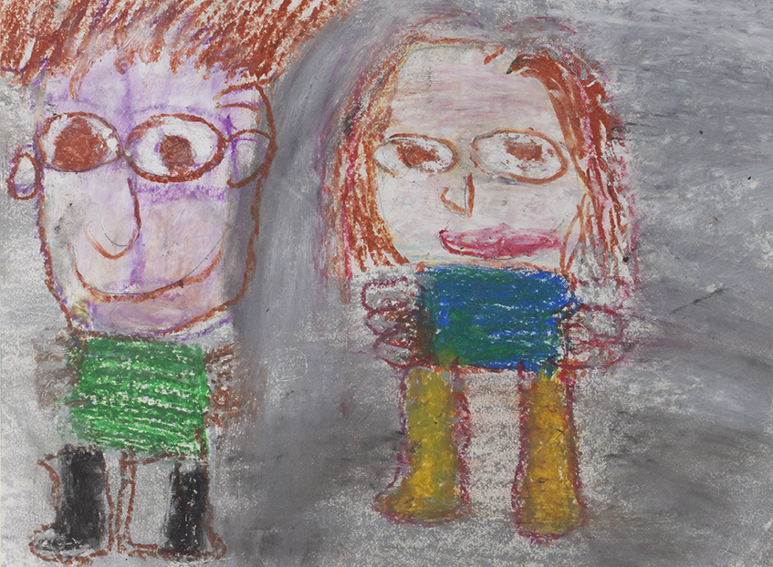 LadyBug_Evan And Angie_Oil Pastel on paper_14 x 11.png