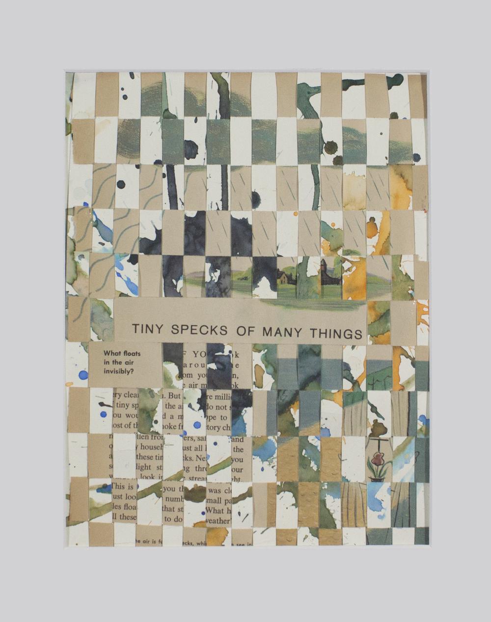 "Amazing   Specks . Paper weaving with bristol. 9"" x 12""."