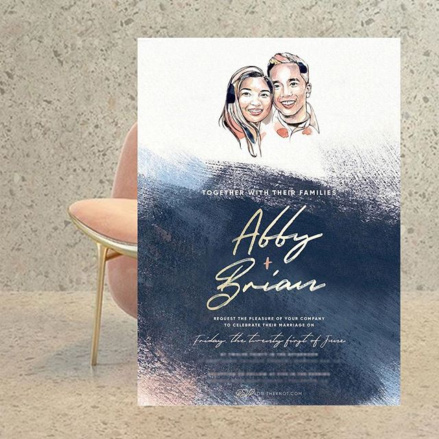 For those who have inquired about using my portraits for invitations — of course you can! Here's a mock up I did for these soon-to-be newlyweds 💕💍 I can't wait to celebrate their love!  PSA — keep an eye out for event/wedding stationery offerings 👀