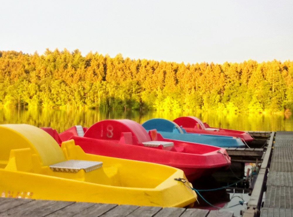 Tretboote - Gruppe - Tretbootvermietung für Gruppen ab 15 Personen1 Stunde 2,50 EUR / Person2,5 Stunden 6,00 EUR / Person5 Stunden 10,00 EUR / PersonBesonders geeignet für Schulklassen und Betriebsfeiern