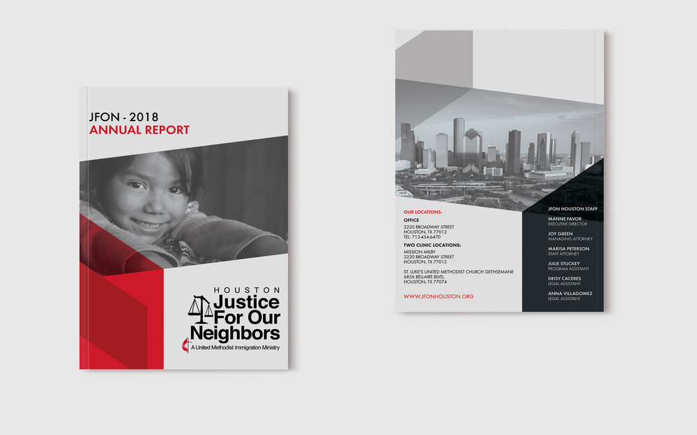 JFON Houston Annual Report, Front & Back Covers