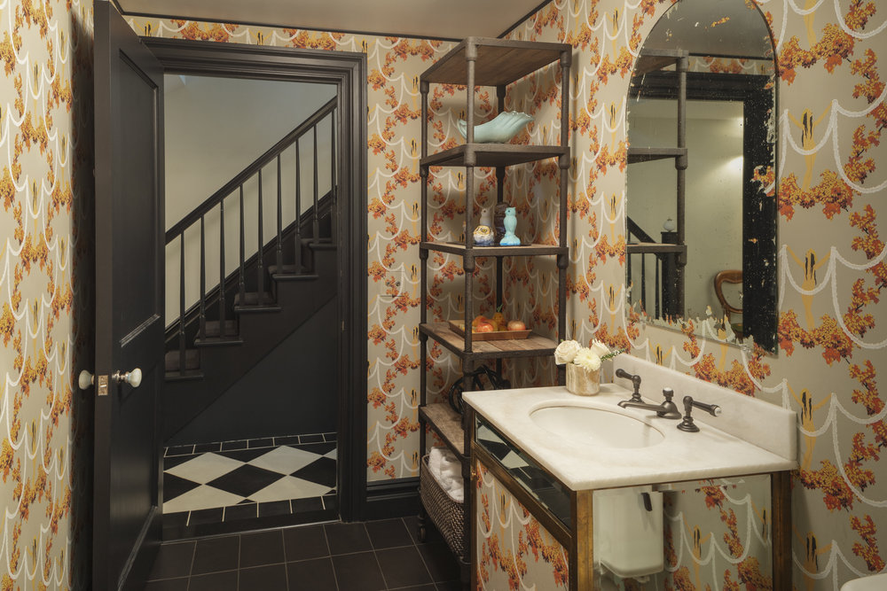 Lauren Stern Design Powder Room Brooklyn Brownstone