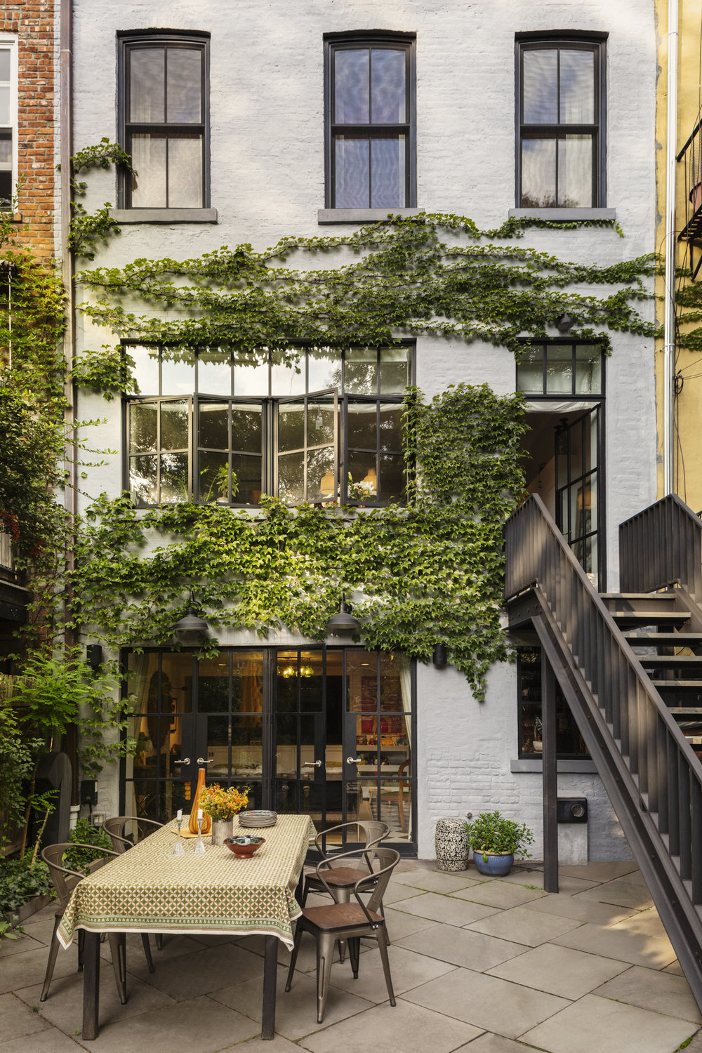 Lauren Stern Design Parlor Rear Facade Brooklyn Brownstone