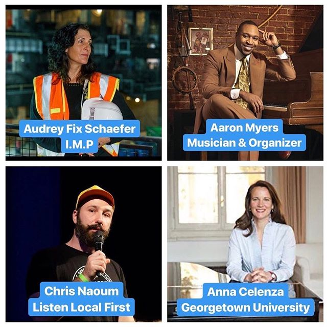 Stay tuned for our coming session at 11:45AM featuring Audrey Fix Schaefer of 9:30 Club,  Aaron L Myers, II Musician and Organizer, Christopher Naoum of Listen Local First, and Anna Celenza of Music Policy Forum and Georgetown Univ.  #mpfsummit #mpfs2018 #musicpolicyforum #202creates #acreativedc