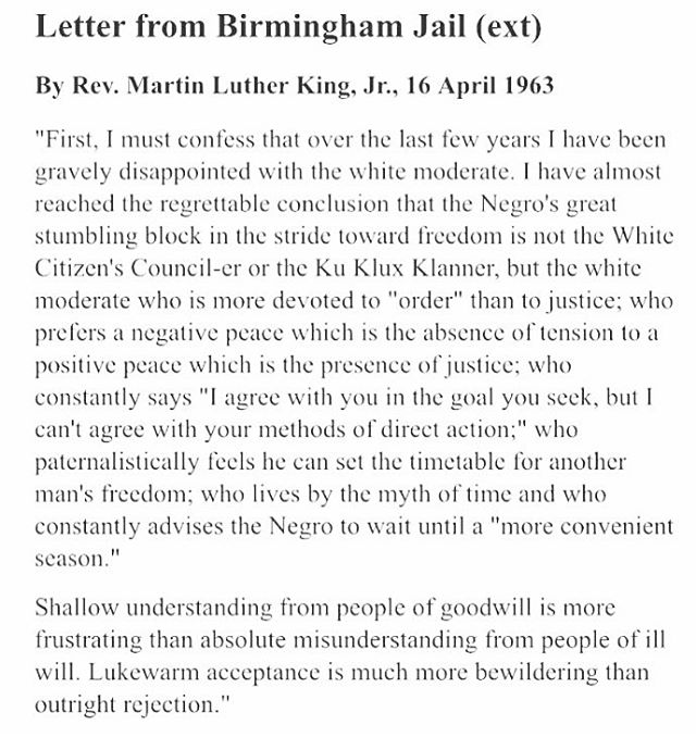 """""""Our lives begin to end the day we become silent about things that matter"""" -MLK (image repost from my friend @femailbox )"""