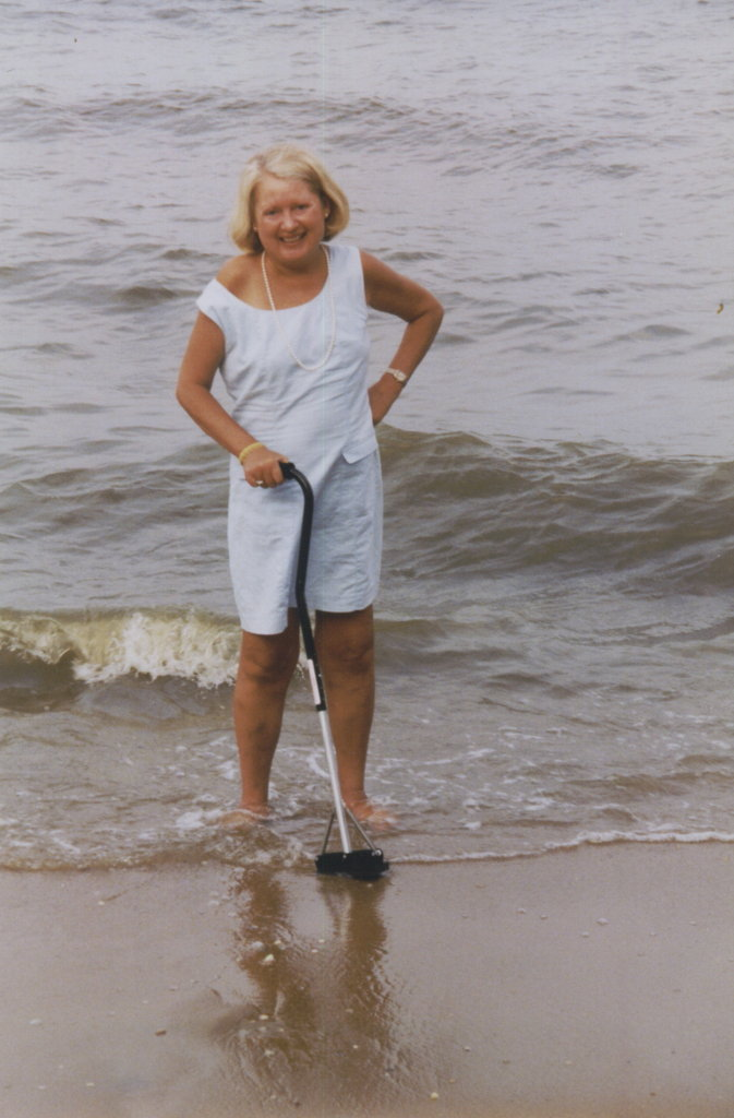 Jean uses the Sure Foot® cane on the beach.jpg