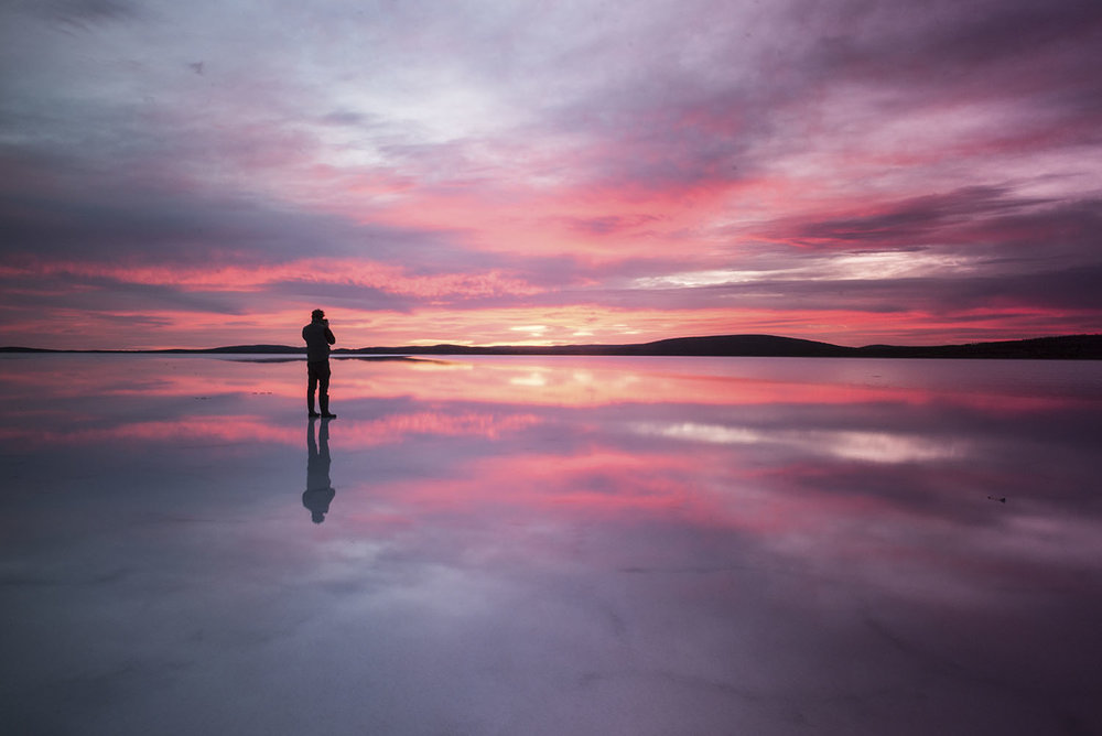 Sunset on Lake Gairdner