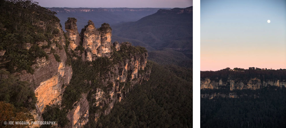 Evening at the Three Sisters in the Blue Mountains