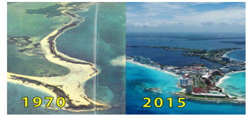 Cancún during the years.