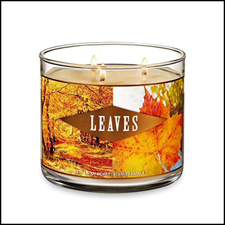 LEAVES CANDLE -