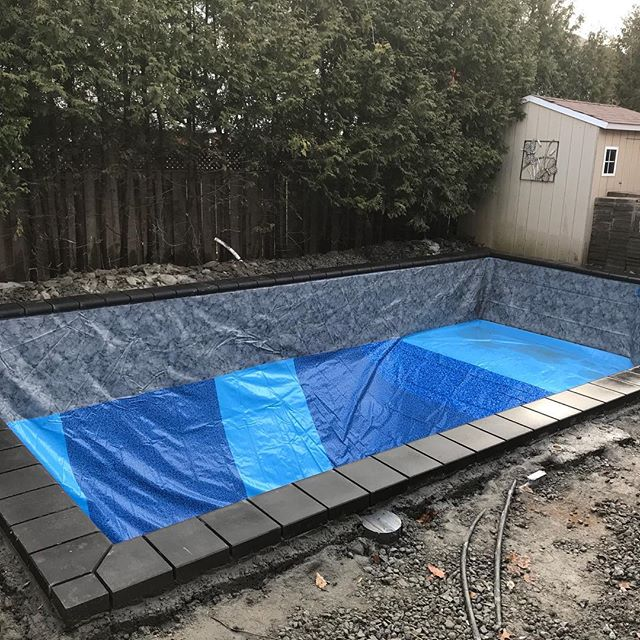 2018 will go down in the record books for the longest pool season of all time. Today we installed the winter liner on our last build of the year and could not have been happier that Mother Nature gave us 5 degrees and sunny to finish up ☀️. This bad boy is ready for landscaping in the Spring. We can't wait for some well deserved down time and we want to wish everyone a Merry Christmas and a Happy New year!! We look forward to seeing you in 2019. #unionvillepools #poolboysinc