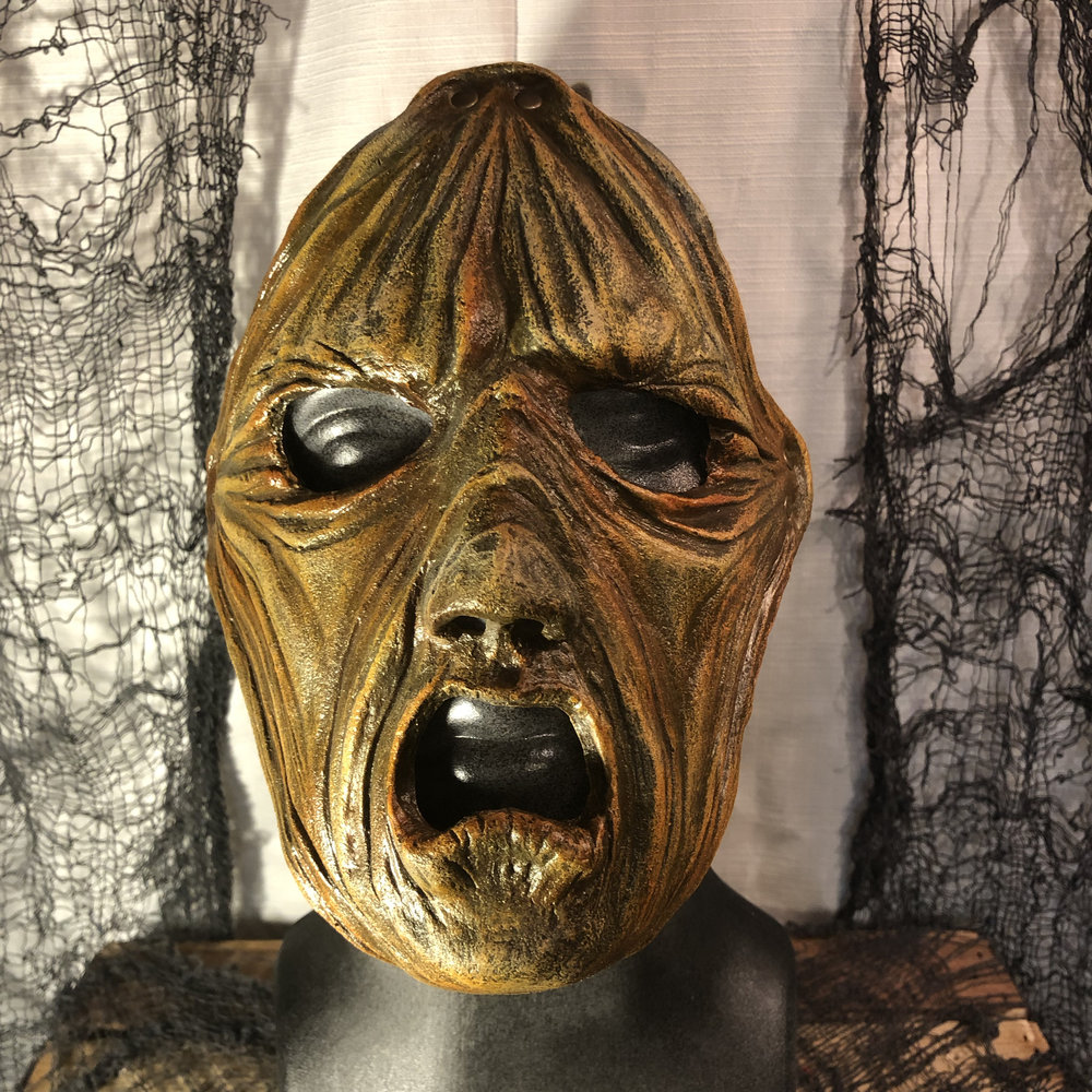 Dr. Ausnemen    $85.00   Have the appearance of wearing someone else's stretched skin.  Become the evil doctor, featured in Insanitarium Haunted Attraction.  100% Natural Latex Mask
