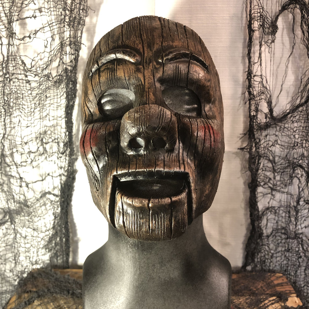 Dudley  $80.00  Become this wise cracking, wooden doll.  Dudley's mask fits similar to a facial prosthetic, not a full coverage mask.  100% Natural Latex Mask