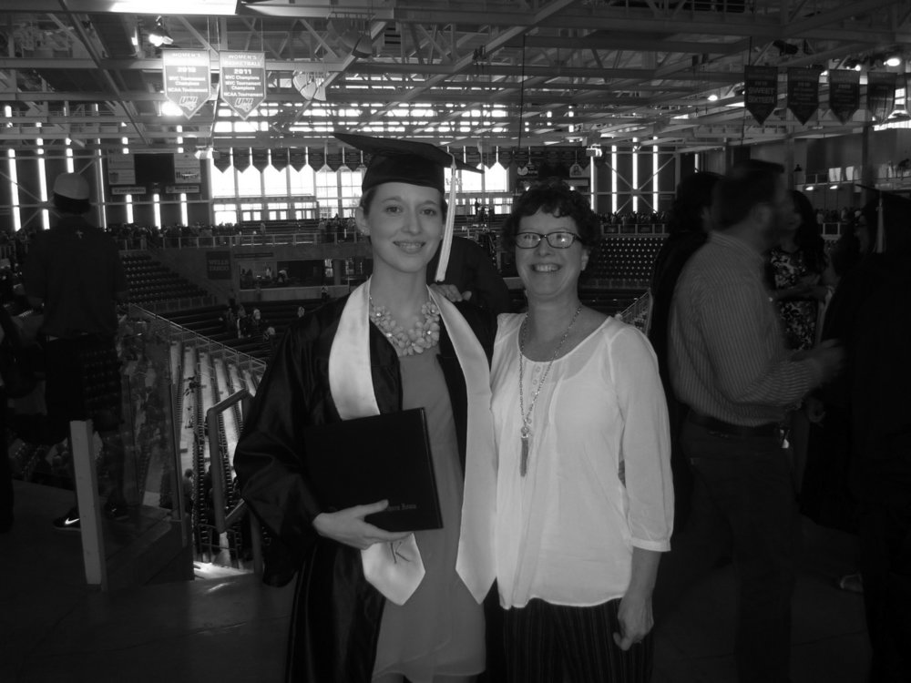 Graduated college - May 11, 2014