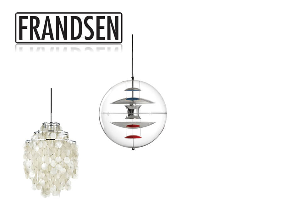 2003: Collaboration with Verpan - Frandsen/Lyskilde changes their name to Frandsen Lighting A/S.Frandsen Lighting A/S establishes a collaboration with Verpan on the production of the VP Globe and Fun series designed by Verner Panton.DNC Holding (Director of Sales Dorte Nørgaard) and Buhr Invest (Johannes Poulsen) step in as shareholders and join Frandsen/Lyskilde.