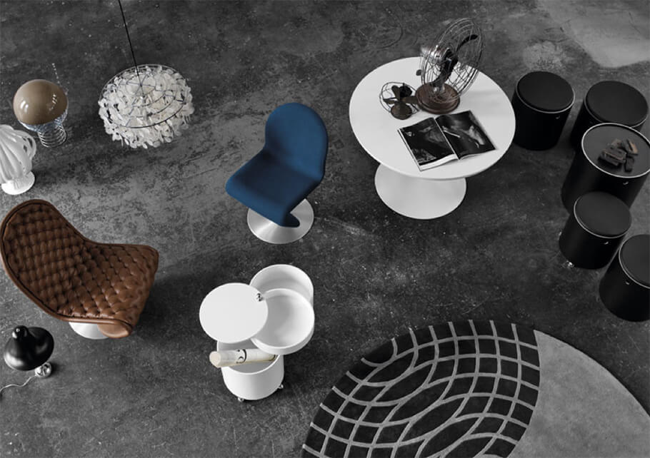 2010: Verpan Expands - VERPAN expands its product range to include furniture and rugs designed by Verner Panton.
