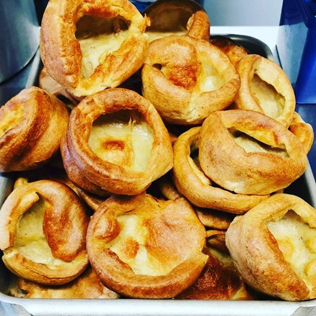 Today's Yorkshire Puddings are looking pretty magnificent. Sunday lunch service is busy. Limited availability for walks ins. Always best to book in advance. #sundayfunday #roast