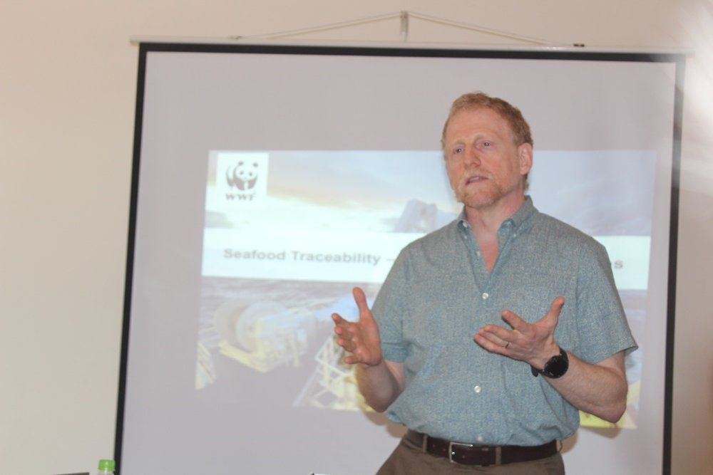 Mr. Schorr explaining the new NOAA regulations