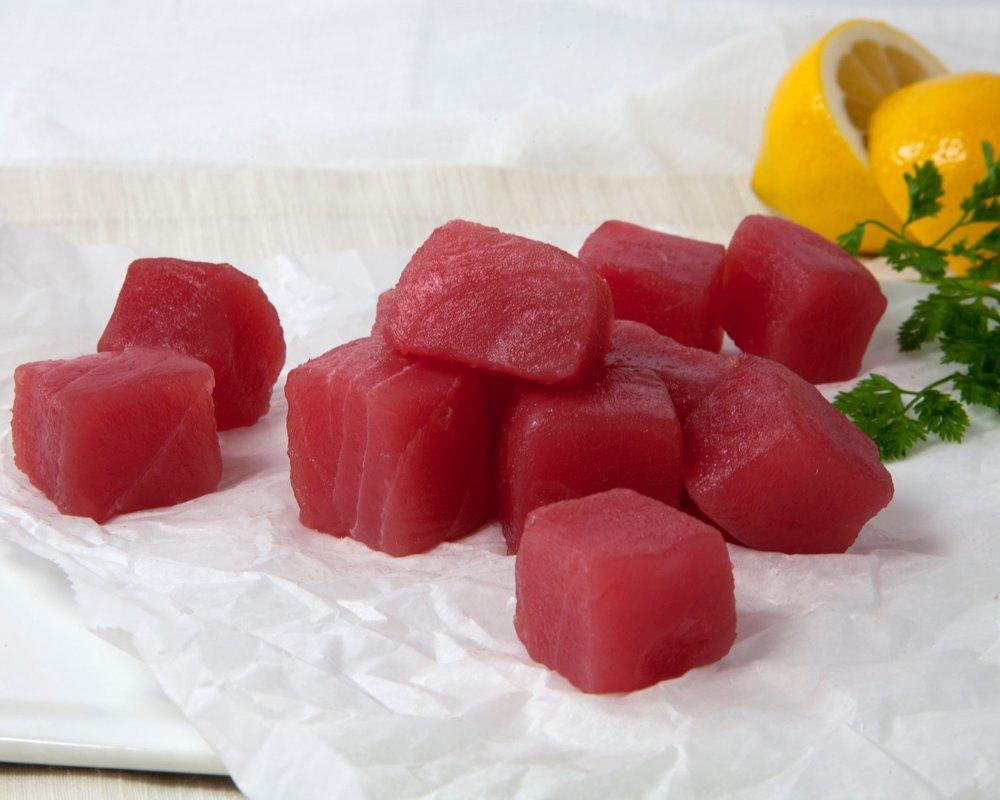 Tasteless Smoke Tuna Poke Cubes