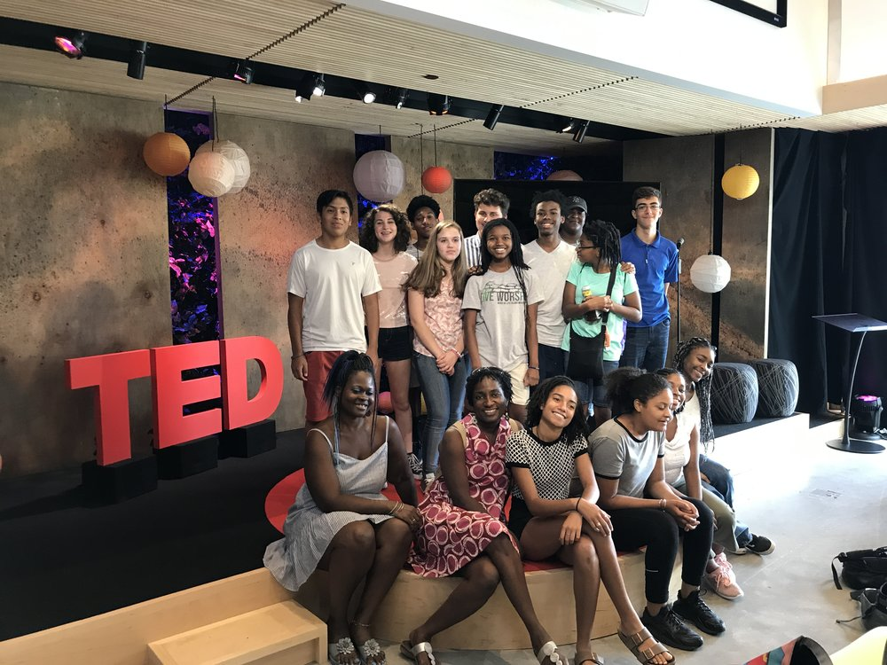 Youth Leadership and Empowerment Camp 2018 - Students travelled to Manhattan to TED HQ to get a tour and learn about the company and their influence in the world of technology, entertainment and design.