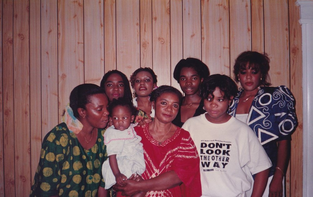 Mom, her daughters and grandchild