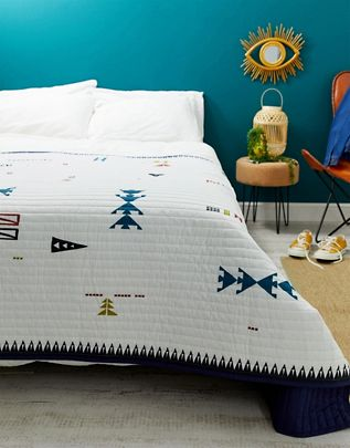 Abstract Triangle Quilted Throw £30