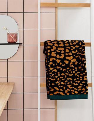 Animal Print Woven Bath Towel £16