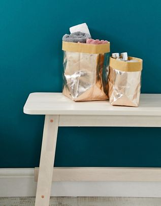 Metallic Storage Bags (2 Pack) £12