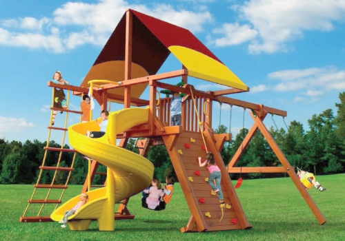 OUTDOOR RECREATION - We provide quality playsets, trampolines, basketball hoops and more. Click on the picture for our current sales promotions.